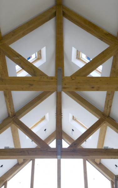 Oak framed feature roof.