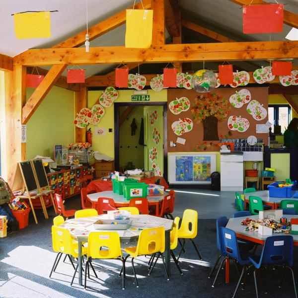 The classroom at Bruton Nursery school.