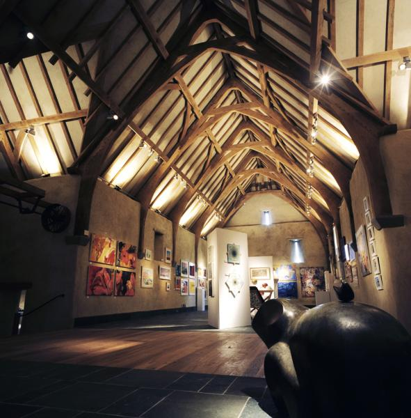 An exhibition at the Great Barn.