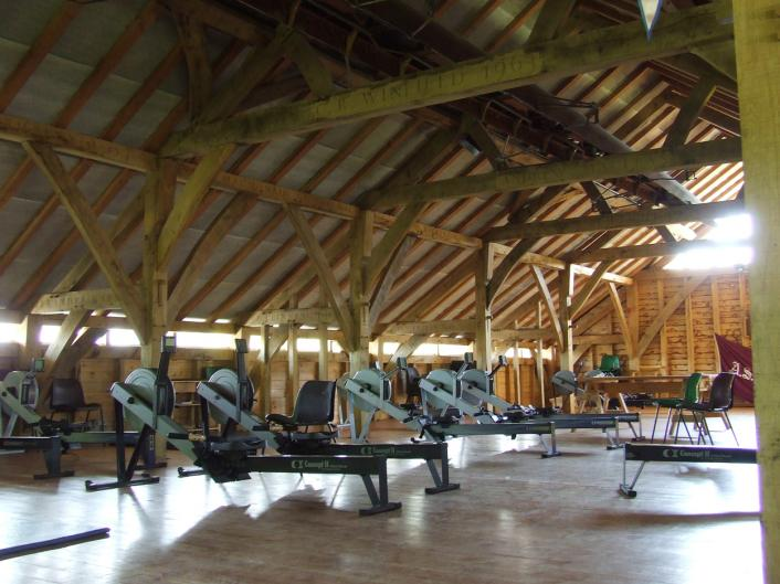 The gym at Abingdon boathouse.